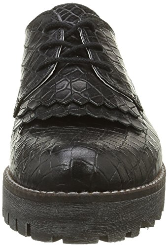 Marc Shoes Katy, Derby Femme Noir - Schwarz (Black 00051)