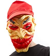 Marce TER completamente maschera con Cap furfante maschera in lattice Joker costume da Clown Horror