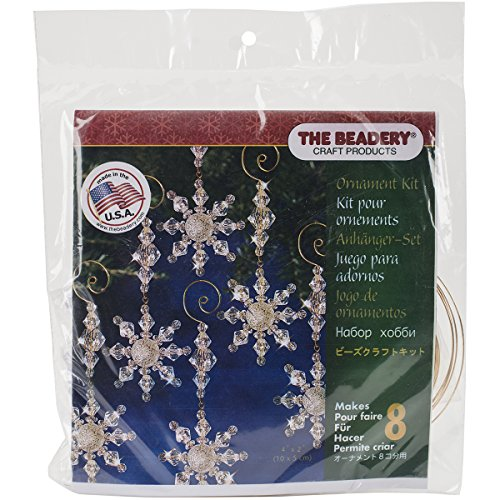 Beadery Kunststoff Holiday Perlen Ornament Kit Snow Kristall Danglers 4-Zoll x 2Zoll Macht 8 (Making Kit Snow)