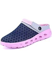 cleostyle Modernas Mujer Zuecos Zapatos de Playa Zapatos del Jardín Zapatillas de Sauna Sandalias Arrastrar IR a Pie Mocasines Zapatillas CL 261 - Blanco, 41 EU