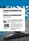 16 Staubsaugerbeutel Siemens Synchropower Power Edition 2400W mit 4 Motorschutzfiltern