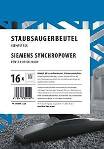 Amazon.de: 16 Staubsaugerbeutel Siemens Synchropower Power
