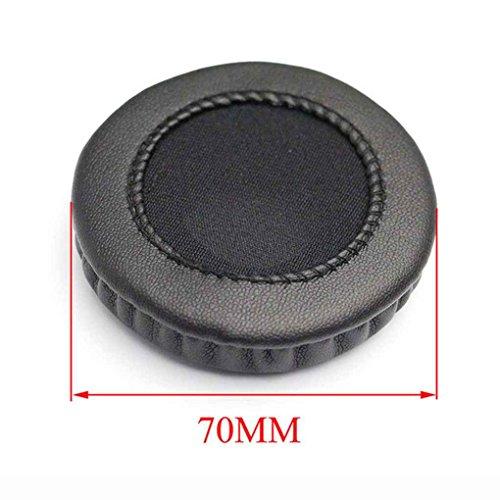LUFA Universal de la PU del cuero Earshield Cojines de esponja de auriculares Copa relleno cubra Headset Earcaps a prueba de polvo portátil