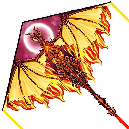 Mint\'s Colorful Life Drachen Drache für Kinder Erwachsene, einleiner flugdrachen Bester Groß Beach Drachen, 100m Drachenschnur inklusive