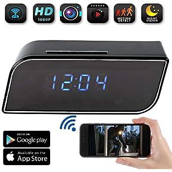 Wifi Hidden Alarm Clock Camera 1080P HD Wireless Wifi: Amazon co uk