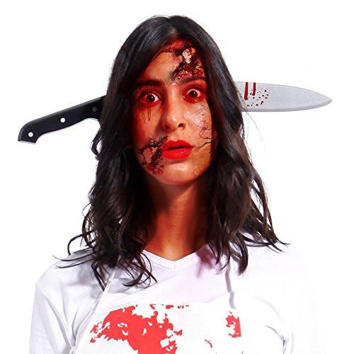 Anladia Messer im Kopf Haarreifen - Halloween Prank Grusel Horror (Modell ()