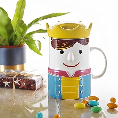 Panbado 17 OZ Porcelain Cute Cartoon Tea Coffee Milk Mug