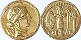 Golden Artifacts Römischen Reiches, Medaille der Julius Caesar &, Venus, Aureus (48–47B.C.) (19mm, 2g) 29-g