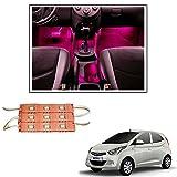 #8: Vheelocityin 9 LED Custom Cuttable Car Pink Light for Interior/ Exterior For Hyundai Eon