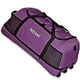Nowi XXL Traveling Bag Duffle 3 wheels 100-135 L space saving Bag 81 cm expandable lila
