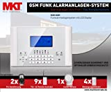 Multi Kon Trade GSM Funk Alarmanlage Set-4 M2C (Bestseller, LCD Display, Alarm SMS Anruf, Deutsche Anleitung)