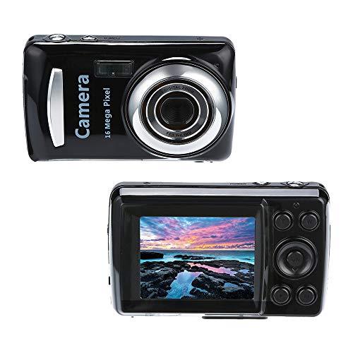 Gaddrt Digitalkamera 2.4HD Bildschirm Digitalkamera 16MP Anti-Shake Gesichtserkennung Camcorder Blank (Schwarz)