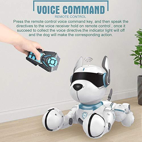 rcraftn Giocattolo per Cane robotico telecomandato Cucciolo interattivo Senza Fili elettronico per Cani Giocattolo per Animali RC per Bambini Regalo
