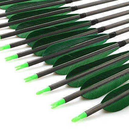SHARROW 12pcs Fiberglaspfeile Bogen und Pfeile 30 Zoll Bogenpfeile mit Pfeilk/öcher f/ür Recurvebogen und Compoundb/ögen Bogenschie/ßen Bogensport