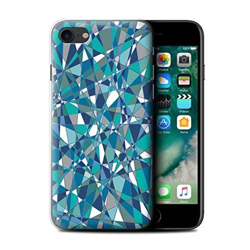 Stuff4 Hülle / Case für Apple iPhone 7 Plus / Martini-Glas/Alkohol Muster / Teal Mode Kollektion Zusammenfassung Glas