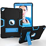 Tasche Hüllen Schutzhülle - case cover silikon cool bi-colour combo kick baby blau/schwarz für Apple iPad Air 2