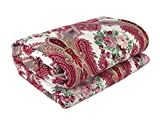 #10: Renown Beautiful Abstract Ethnic Design Reversible Double Bed Quilt / AC Blanket / Dohar ( Pack Of 1 Pc )