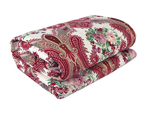 Renown Beautiful Abstract Ethnic Design Reversible Double Bed Quilt / AC Blanket...