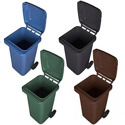 Mülltonne Abfalltonne Reststofftonne 120L laufruhige Vollgummi-Räder NEU (braun)