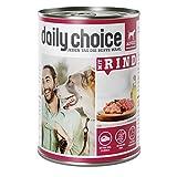 daily choice | Mit Rind | 24 x 400 g | Nassfutter für Hunde | Viel Fleisch | Getreidefrei | Optimal verdaulich Tierversuche, Zucker, Farb- & Konservierungsstoffe