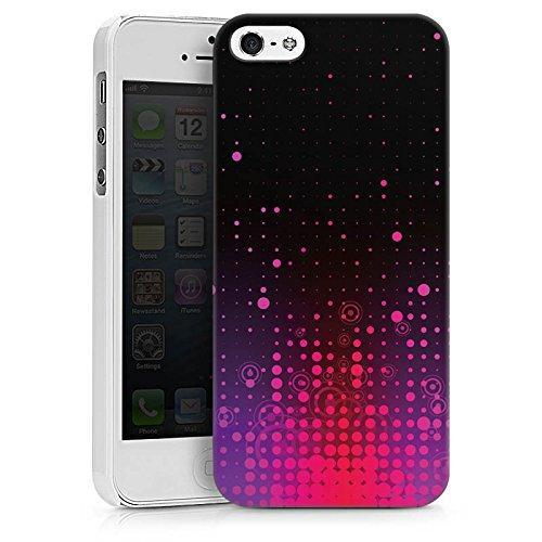 Apple iPhone X Silikon Hülle Case Schutzhülle Punkte Muster Pink Hard Case weiß