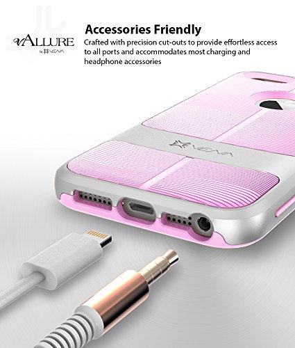 iPhone SE Custodia, Vena [vAllure][CornerGuard ShockProof] Slim Hybrid Case Cover Copertura per iPhone 5 / 5S / SE (Oro / Rosa) Argento / Lavanda