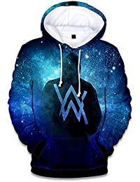 Haililais Alan Walker Sweats Manches Longues A Capuche Sweat-Shirts  Impression en 3D T- 7336518cbb06