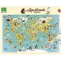 Vilac - Mapa del mundo magnético, 76x50x1 (2720S)