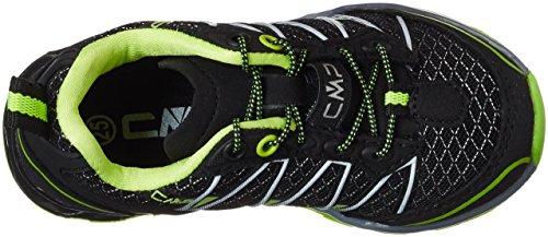 C.P.M. Atlas, Chaussures de Trail Mixte Enfant Noir (Nero-yellow Fluo)