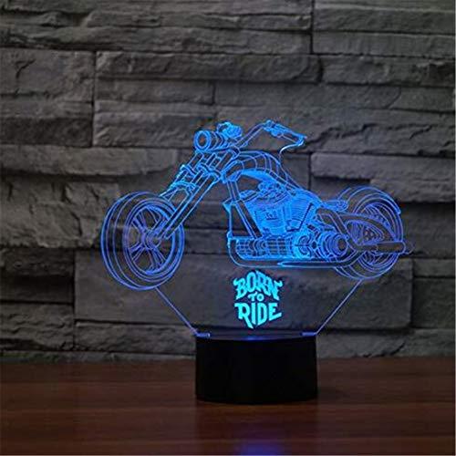 Luci a Led Luci Edison Moto 3D Illusione Visiva Lampada Acrilica trasparente Luce notturna