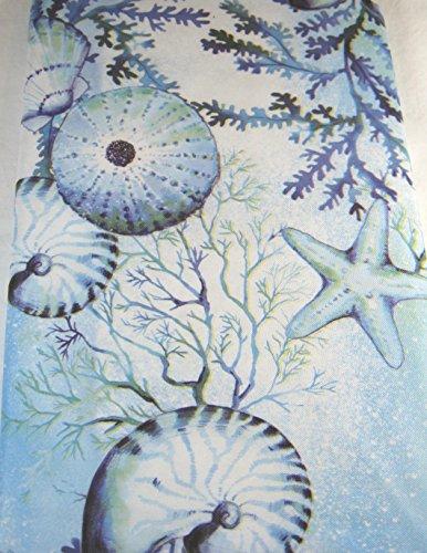Summer Fun Wunder der Ocean Tischdecke, Vinyl, verschiedene Größen, quadratisch, länglich und rund, blau, Vinyl, blau, 52 x 70 Oblong