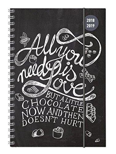 Collegetimer A5 Woche Chalkboard Ringbuch 2018/2019