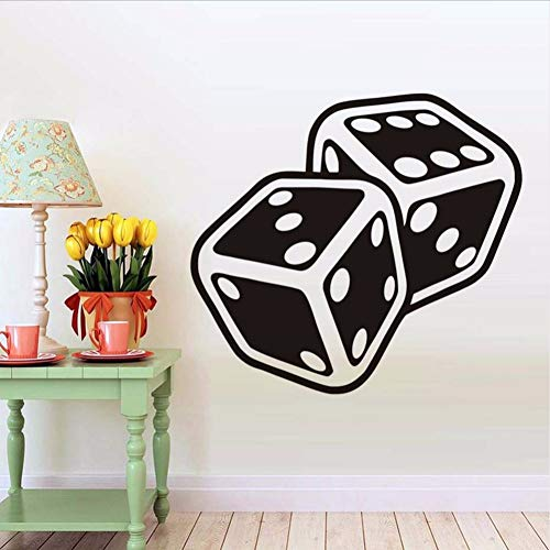 c728cc1b61e1 Dice Suits Wall Decals Vinyl Stickers For Living Room Interior Design  Removable Wall Art Decals Posters Wallpaper Home Decor 64 * 58.cm