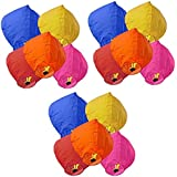 Magicwand Multi-Colored Sky Lanterns for Karwa Chauth Night,Weddings, Birthday Parties (Pack of 10)