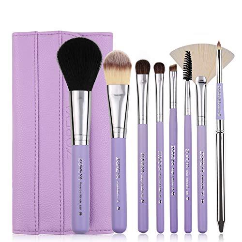 8 Stück Make-up Pinsel Set - Foundation Puder Lidschattenpinsel Blush Eyeliner Puderpinsel (Citron)