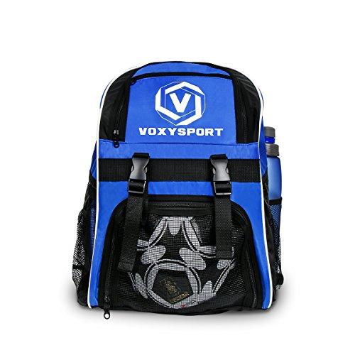 Imagen de  de fútbol bolsa para deporte con bolsillos de botas de fútbol bolso para balón saco de zapatos equipaje de entrenamiento  de poliéster para gimnasio azul  alternativa