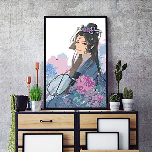 alerei Kostüm Frau DIY Ölgemälde Dekompression Füllen Malerei Dekorative Malerei Handgemalte Acryl Kits 40X50 cm ()
