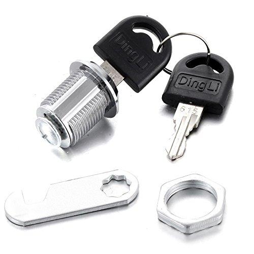 atoplee 20mm Schrank Lock Cam Lock Schlösser für Mailbox Schublade Schrank Schlüsselkasten mit Schlüssel (Möbel Cam-lock-schraube)
