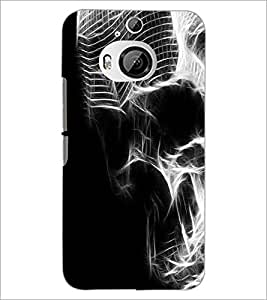 PrintDhaba Digital Skull D-2119 Back Case Cover for HTC ONE M9 PLUS (Multi-Coloured)