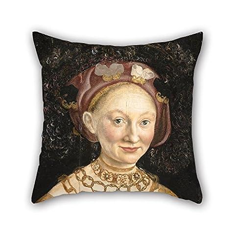 alphadecor Ölgemälde Hans Krell–Portrait Of Princess Emilia von Sachsen Kissenbezüge, Best für Kaffee House, Couch, Home Theater, Husband, GF, Sohn 45,7x 45,7cm/45von 45cm (Zwei Seiten)