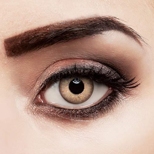 aricona Kontaktlinsen gold braun ohne Stärke farbige Jahreslinsen 2 Stück
