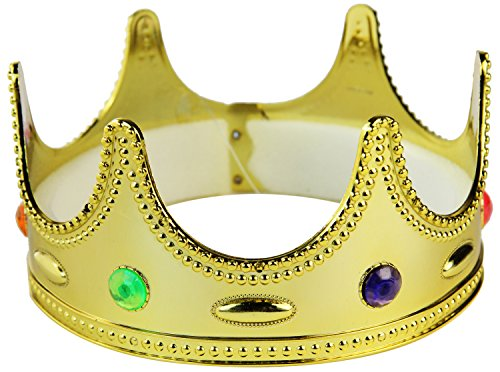 Seiler24 Königliche Hoheit Krone mit Dekosteinen (Königliche Hoheit Kostüm)