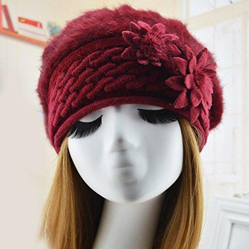 Très Chic Mailanda - Béret - Femme taille unique Rouge