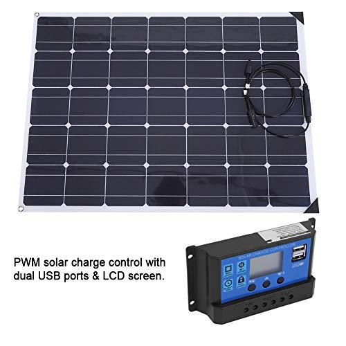 Flexibles Solarpanel, flexibles monokristallines Solarpanel mit 20 A Controller und 10 m MC4-Kabel 150w Solar-panel