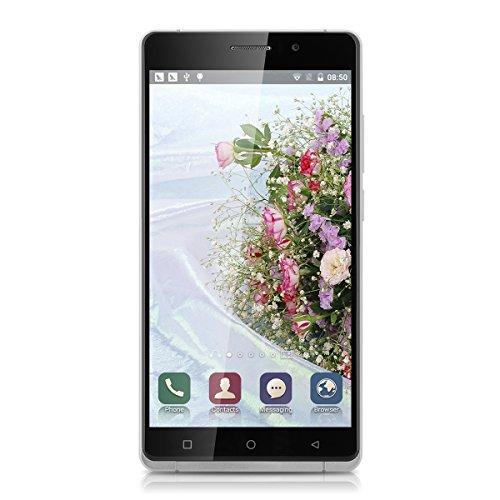 Uhappy UP580 6.0 Zoll 3G Smartphone Android 5.1 ohne Vertrag Quad Cores 1.3GHz Dual SIM RAM 1GB + 8GB ROM Handy IPS QHD Pixels Screen 8MP 5MP Dual Kamera WIFI GPS Schwarz