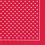 Michelle Nilson rojo y blanco diseño de lunares diseño de lunares de papel 3 capas servilletas 33 cm cuadrados 20 en un paquete