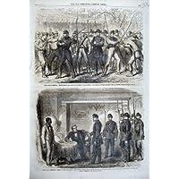 1861 Prigioniero Faulkner Francia delle Truppe del Sindacato dell'America di Guerra