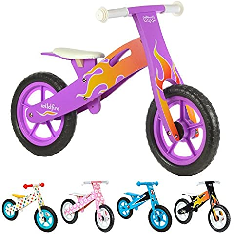 boppi® Wooden Balance Bike - Purple Flame