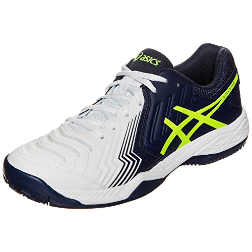 Asics Herren Gel-Game 6 Clay Tennisschuhe WHITE/INDIGO BLUE/SA
