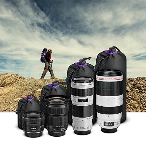 Chronex Photo Thick Protective Neoprene Pouch Set for DSLR Camera Lens (Canon, Nikon, Pentax, Sony, Olympus, Panasonic)  available at amazon for Rs.249
